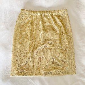 Dresses & Skirts - grace Karin elastic waistband sequin skirt small